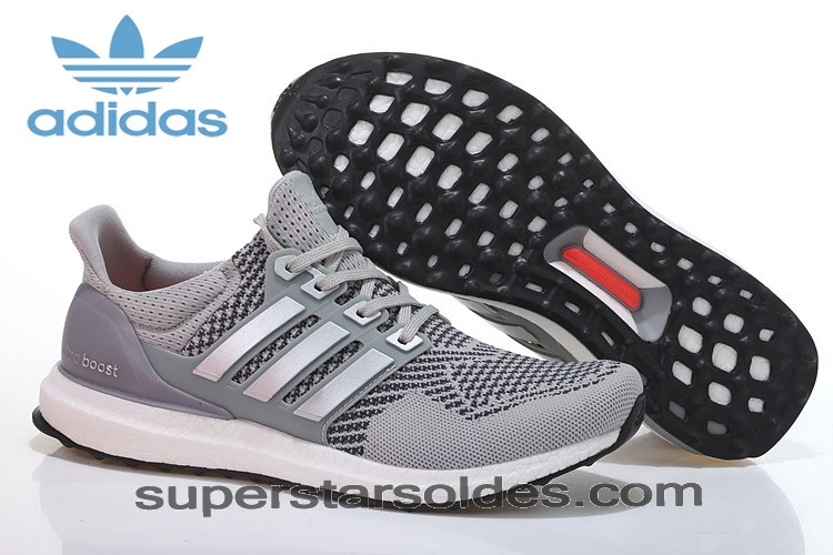 Bas Prix Adidas Running Ultra Boost Homme/Femme Chaussures Grise/Sliver Pas Cher - Bas Prix Adidas Running Ultra Boost Homme/Femme Chaussures Grise/Sliver Pas Cher-01-0