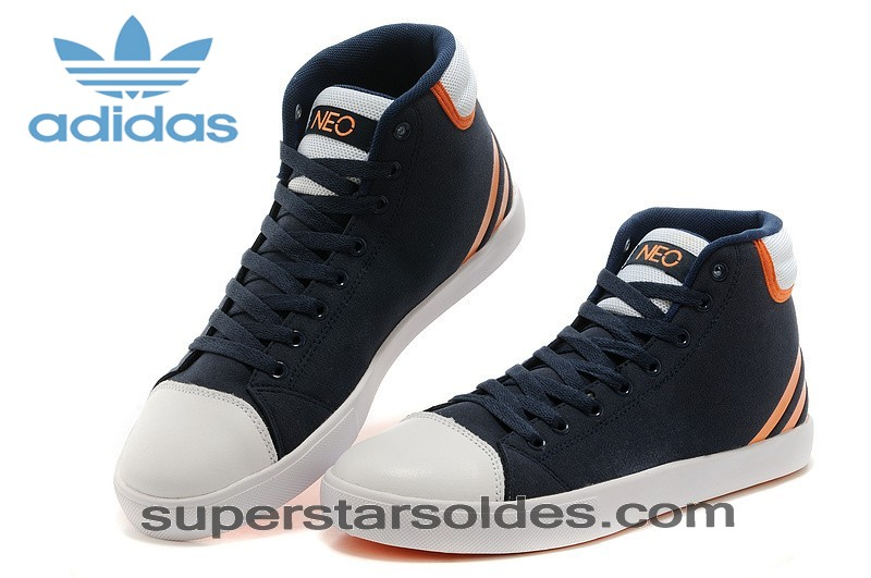Prix Cassé Boutique Homme/Femme Adidas Neo High Tops New Marine/Orange/Blanche Chaussures France - Prix Cassé Boutique Homme/Femme Adidas Neo High Tops New Marine/Orange/Blanche Chaussures France-01-1