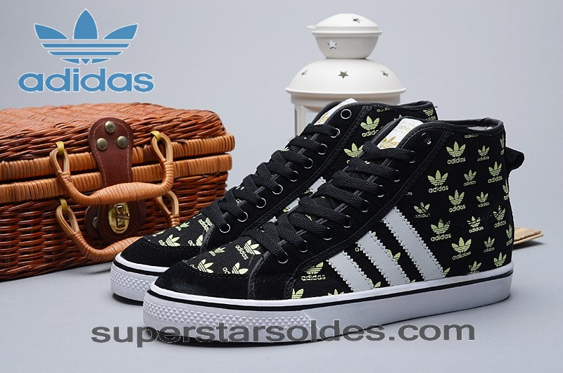 Adidas Nizza Homme High Tops Toile Glow In The Dark Noir Blanc Print à Prix Discount - Adidas Nizza Homme High Tops Toile Glow In The Dark Noir Blanc Print à Prix Discount-01-4