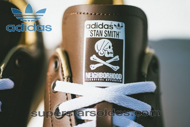 Prix d'Amis Adidas Originals Stan Smith Homme Cuir Marron Blanc - Prix d'Amis Adidas Originals Stan Smith Homme Cuir Marron Blanc-01-4