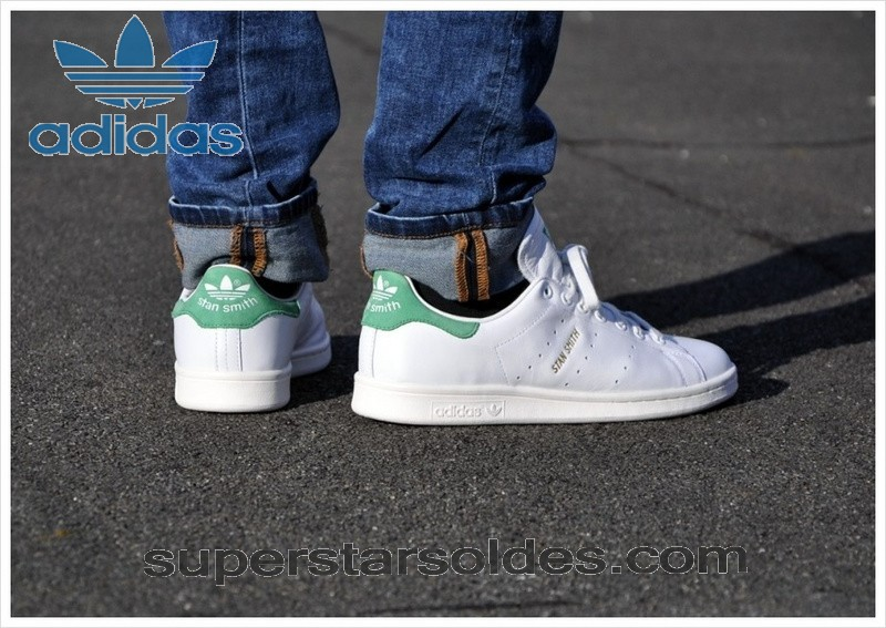 Prix d'Amis Adidas Originals The Stan Smith 2014 Homme Blanc Vert - Prix d'Amis Adidas Originals The Stan Smith 2014 Homme Blanc Vert-01-6