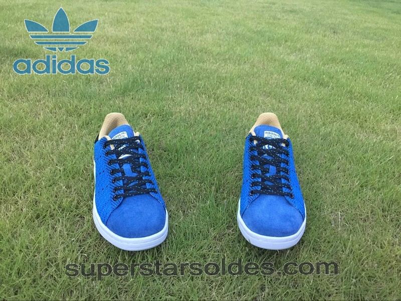 nouvelle collection 46e8f 1dd6c Prix d'Amis Adidas Stan Smith Homme Chaussure Flyknit Bleu Royal