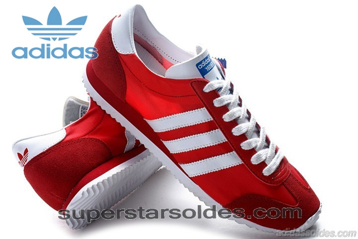 Chaussure Adidas 1609er Homme Suède Rouge Blanc à Petit Prix - Chaussure Adidas 1609er Homme Suède Rouge Blanc à Petit Prix-01-2