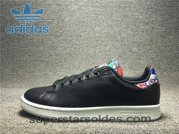 Prix d'Amis Chaussure Adidas Stan Smith Homme Noir Floral Print - Prix d'Amis Chaussure Adidas Stan Smith Homme Noir Floral Print-01-0