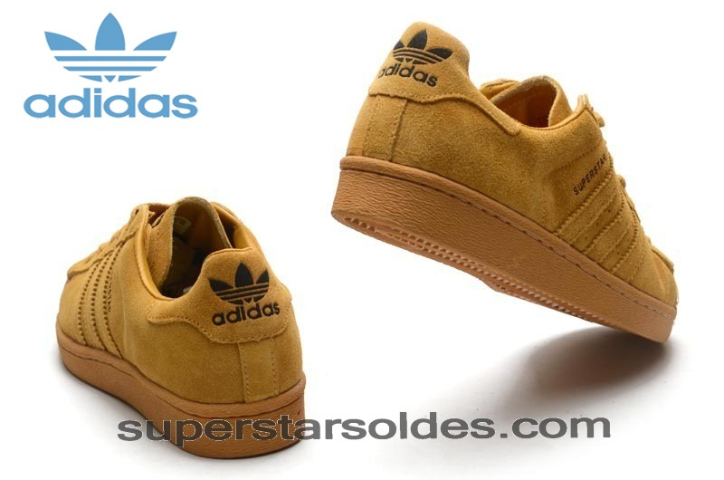 Chaussure Adidas Superstar Suède Homme Metal Toe Jaune Or Haute Qualité - Chaussure Adidas Superstar Suède Homme Metal Toe Jaune Or Haute Qualité-01-3
