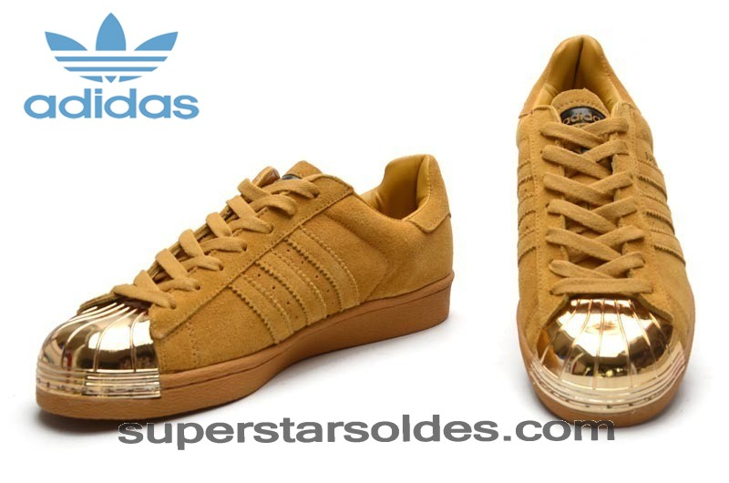 Chaussure Adidas Superstar Suède Homme Metal Toe Jaune Or Haute Qualité - Chaussure Adidas Superstar Suède Homme Metal Toe Jaune Or Haute Qualité-01-4