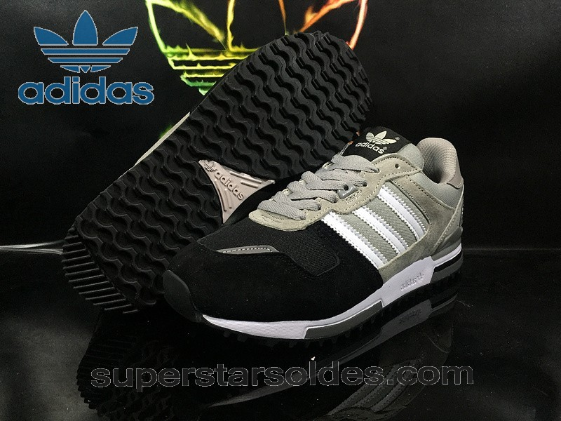Large Choix Chaussure Adidas Zx 700 Grise Blanc Noir - Large Choix Chaussure Adidas Zx 700 Grise Blanc Noir-01-0