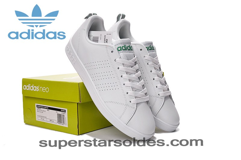 Faible Prix 1a Basket Homme Adidas Neo Advantage Clean Blanc Vert - Adidas Neo Blanche Blanc Vert - Faible Prix 1a Basket Homme Adidas Neo Advantage Clean Blanc Vert Adidas Neo Blanche Blanc Vert-01-2