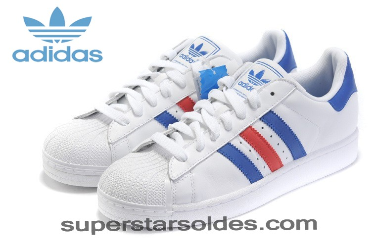 adidas superstar bleu rouge