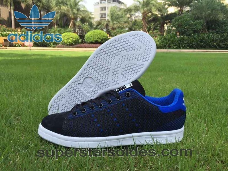 Prix d'Amis Adidas Stan Smith Flyknit Homme Chaussure Noir Bleu - Prix d'Amis Adidas Stan Smith Flyknit Homme Chaussure Noir Bleu-31