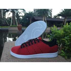 Prix d'Amis Adidas Stan Smith Flyknit Homme Chaussure Noir Rouge