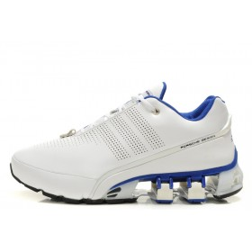 Prix Affortable Adidas Porsche Design 4 Leather Chaussures For Homme Blanc Blue