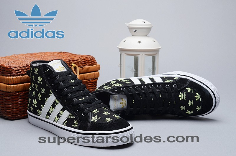 Adidas Nizza Homme High Tops Toile Glow In The Dark Noir Blanc Print à Prix Discount - Adidas Nizza Homme High Tops Toile Glow In The Dark Noir Blanc Print à Prix Discount-01-1