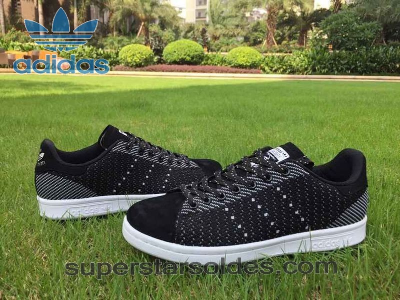Prix d'Amis Adidas Stan Smith Flyknit Homme Chaussure Noir Blanc - Prix d'Amis Adidas Stan Smith Flyknit Homme Chaussure Noir Blanc-01-1